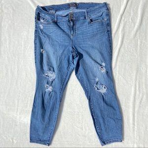Torrid Jegging Denim Distressed Jeans Size 26R